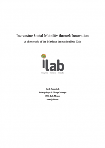 Increasing Social Mobility through Innovation